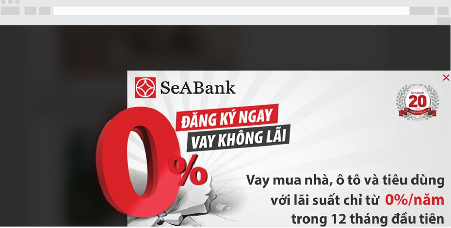Banner quảng cáo Seabank - Balloon Ads