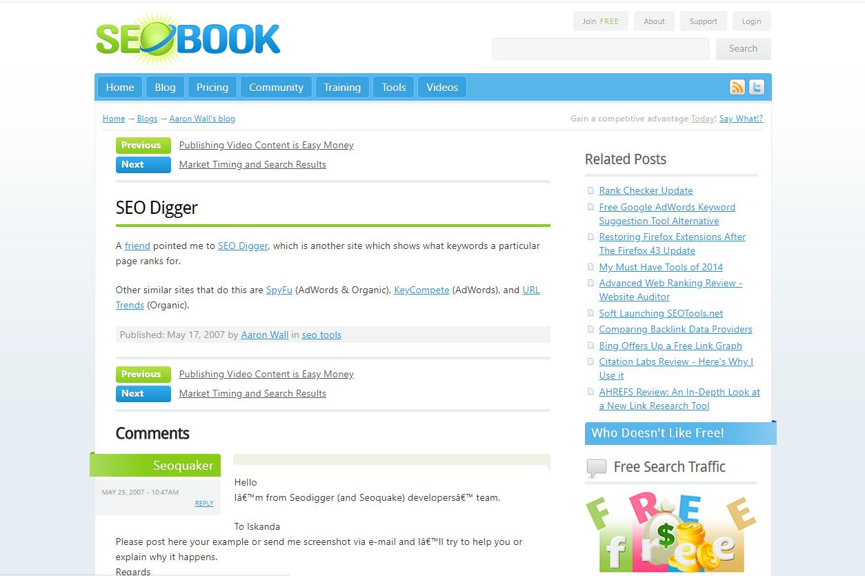 Công cụ nghiên cứu từ khóa SEO Digger