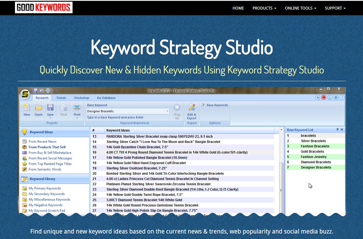 Công cụ nghiên cứu từ khóa Good Keywords