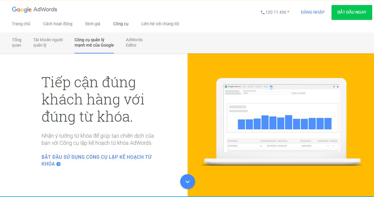 Công cụ nghiên cứu từ khóa - Keyword Planner