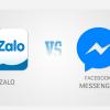 zalo và facebook messenger ava