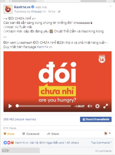 Live Stream là gì? Chương trình LiveStream của kênh 14
