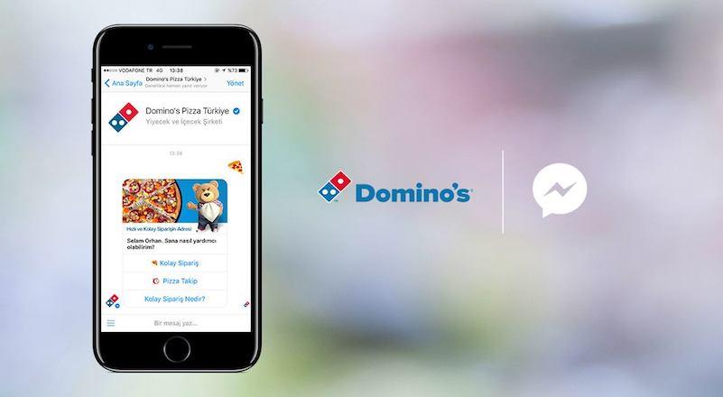áp dụng chatbot từ Domino's Pizza