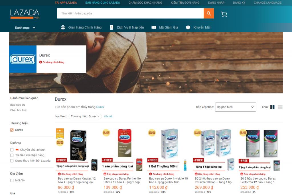 chiến lược marketing bao cao su của durex lazada
