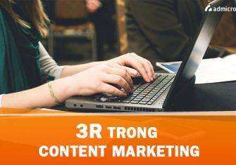 nguyên tắc 3r trong content marketing