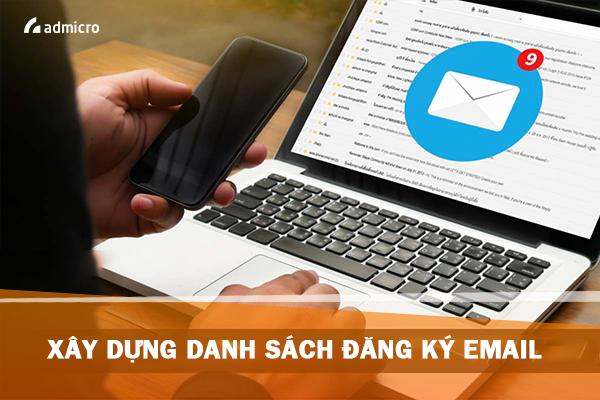 Xây dựng danh sách đăng ký email