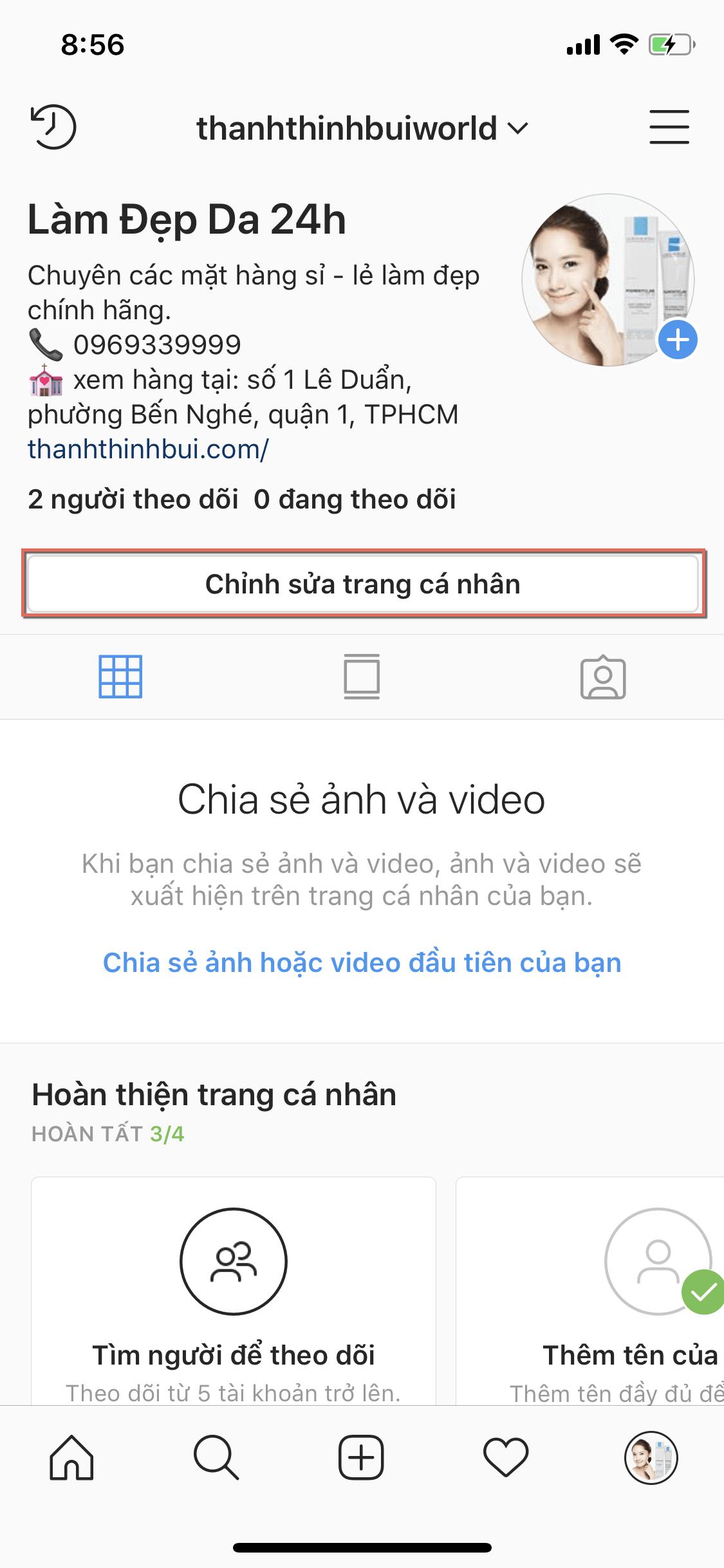 Chuyển tài khoản cá nhân thành tài khoản bán hàng trên Instagram