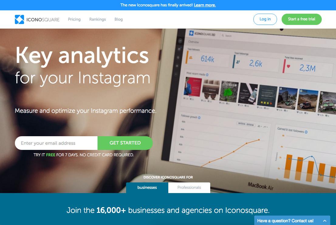 Công cụ giúp tăng hiệu suất bán hàng trên Instagram - Iconosquare
