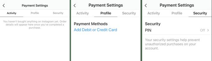 instagram cài đặt tài khoản ngân hàng
