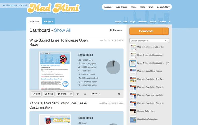 Phần mềm email marketing miễn phí Madmimi