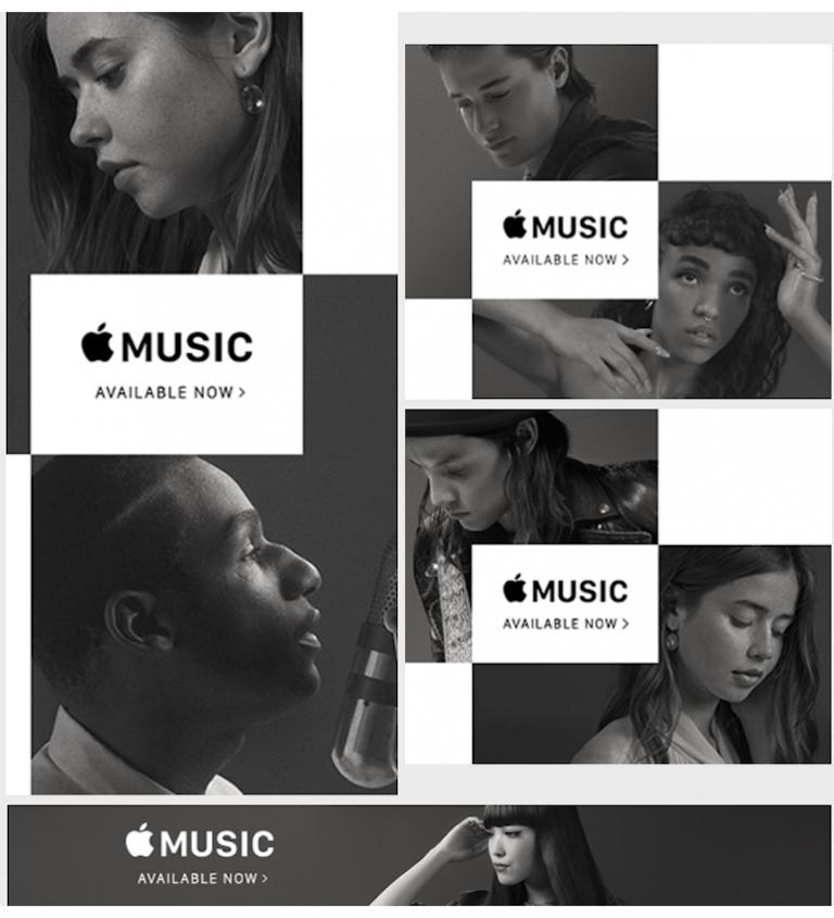 Mẫu banner đẹp cho quảng cáo của Apple Music
