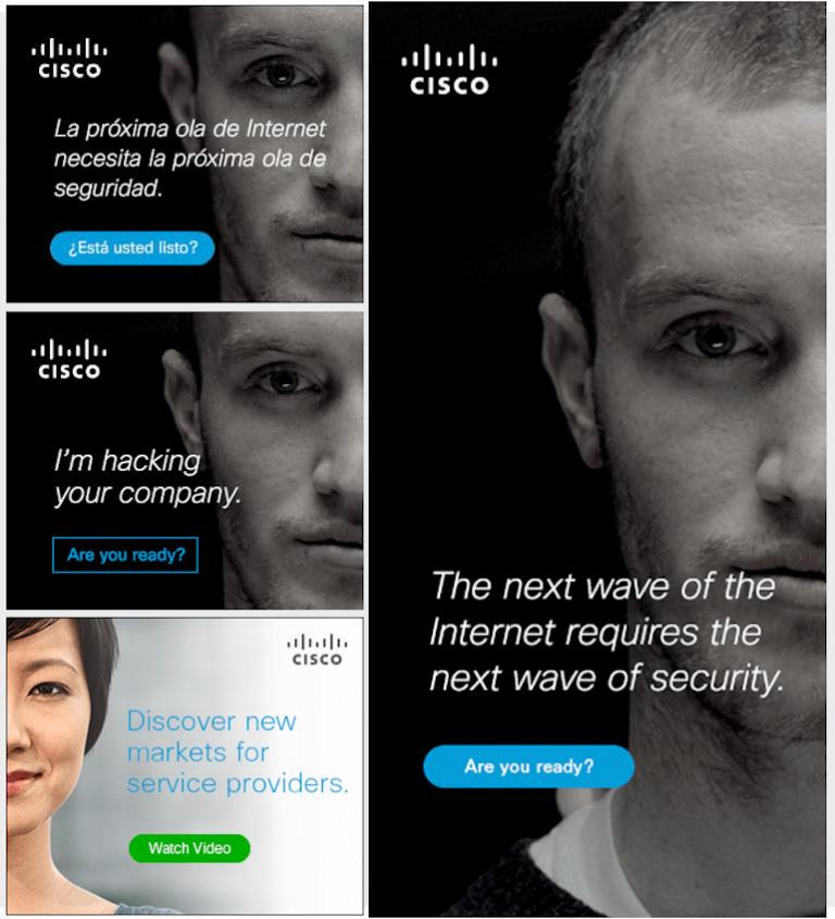 Mẫu banner quảng cáo của Cisco