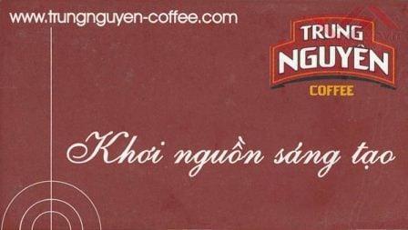 những câu slogan hay về kinh doanh - cà phê trung nguyên