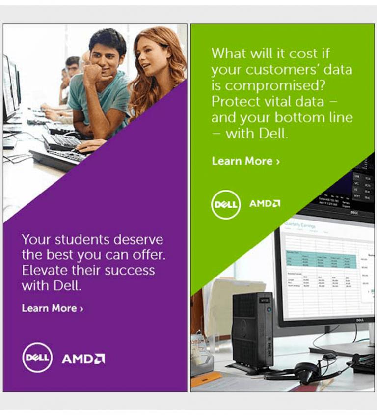 Mẫu banner quảng cáo đẹp của Dell