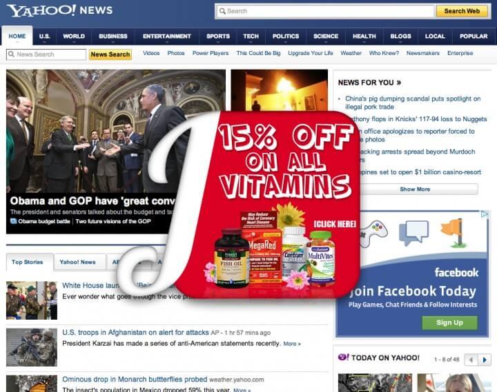 loại quảng cáo Rich Media - quảng cáo nổi