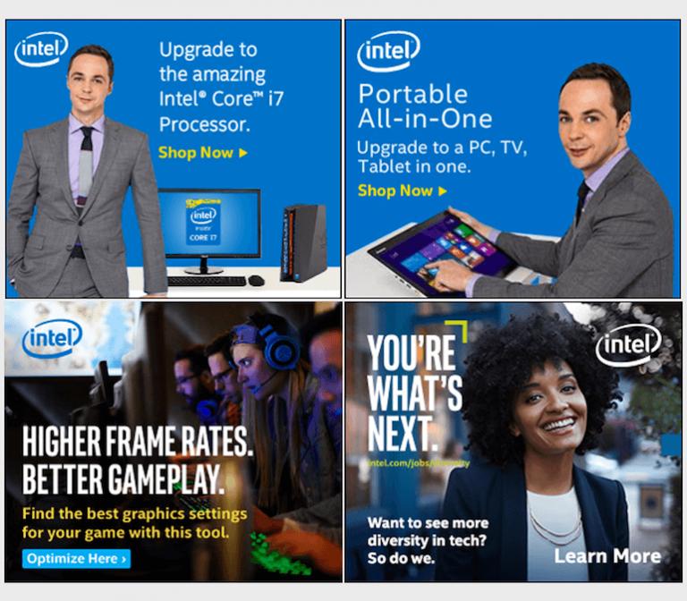 Banner quảng cáo đẹp từ Intel