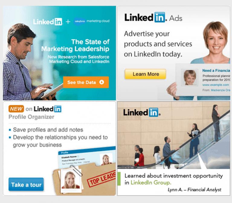 Mẫu banner quảng cáo của LinkedIn