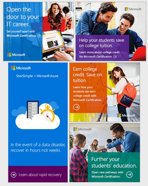 Mẫu banner quảng cáo đẹp của Microsoft