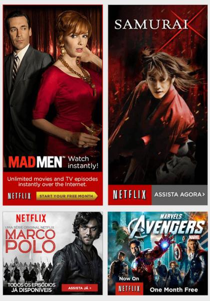 Mẫu banner đẹp của Netflix