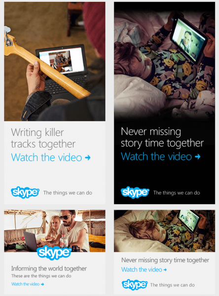 Banner quảng cáo đẹp của Skype