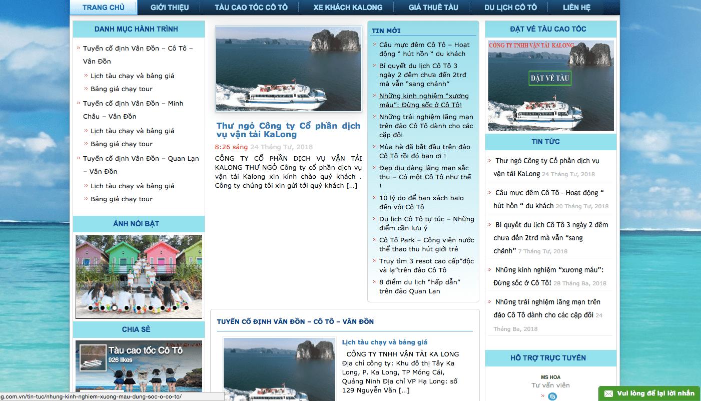 website làm marketing vận tải đường biển