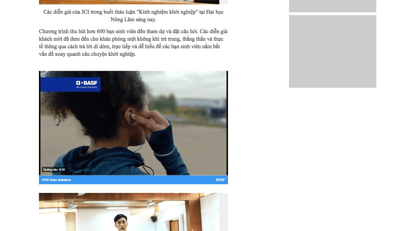 báo giá TVC quảng cáo - Inpage Video