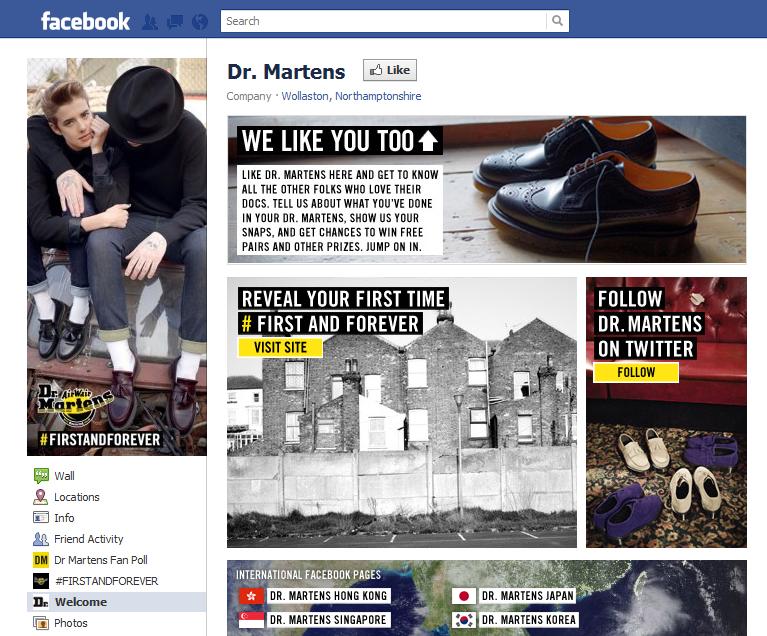 """Chiến dịch """"""""First and Forever"""" của thương hiệu Dr. Martens trên Facebook"""
