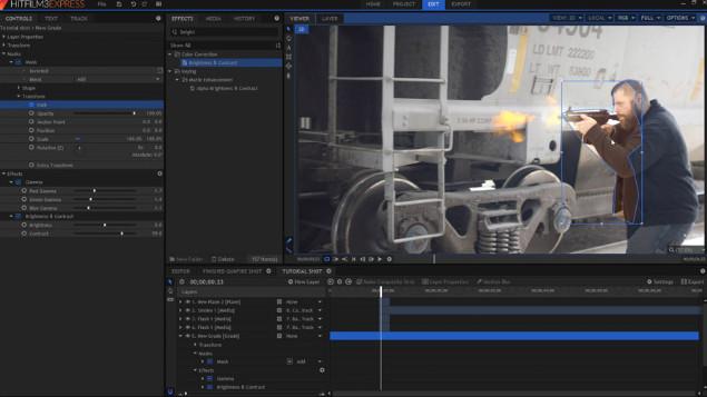 HitFilm Expres phần mềm chỉnh sửa video miễn phí tốt nhất
