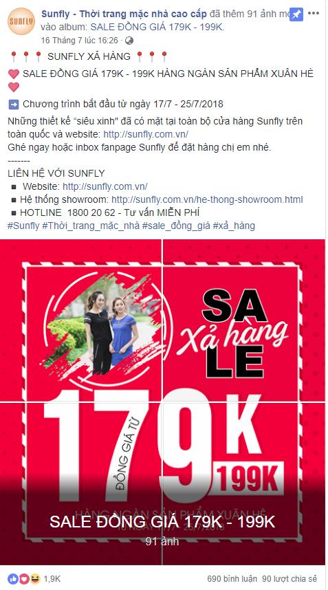 Cách Sunfly làm PR trên Facebook là gì