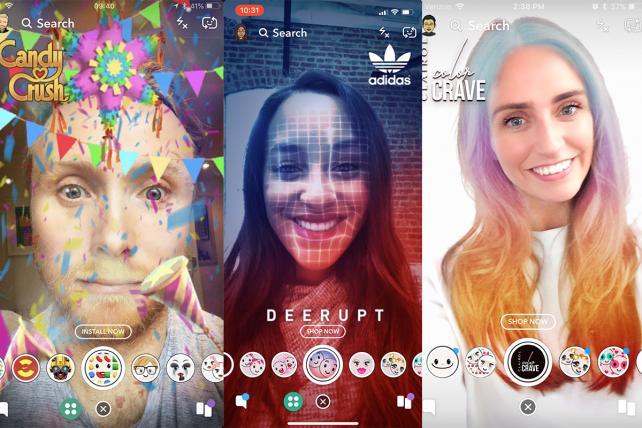 quảng cáo thực tế ảo AR với Snapchat