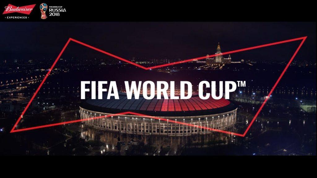 Budweiser tài trợ cho World Cup 2018