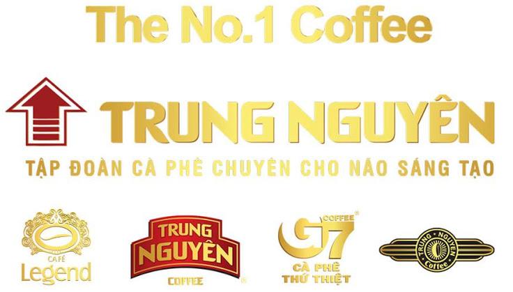 Logo các nhãn hàng của thương hiệu cà phê Trung Nguyên