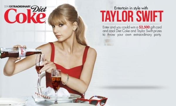 Taylor Swift hợp tác với Coca Cola