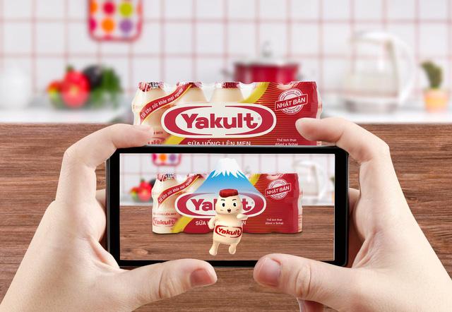 yakult sử dụng công nghệ AR trong Marketing