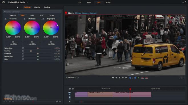 Lightworksphần mềm chỉnh sửa, biên tập video miễn phí chuyên nghiệp