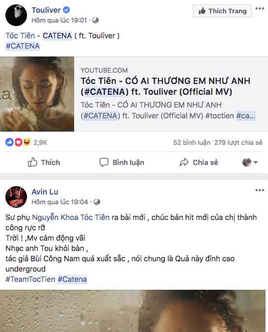 Hashtag của Sao Việt