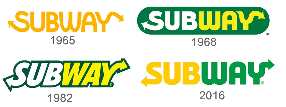 thiết kế thương hiệu Subway
