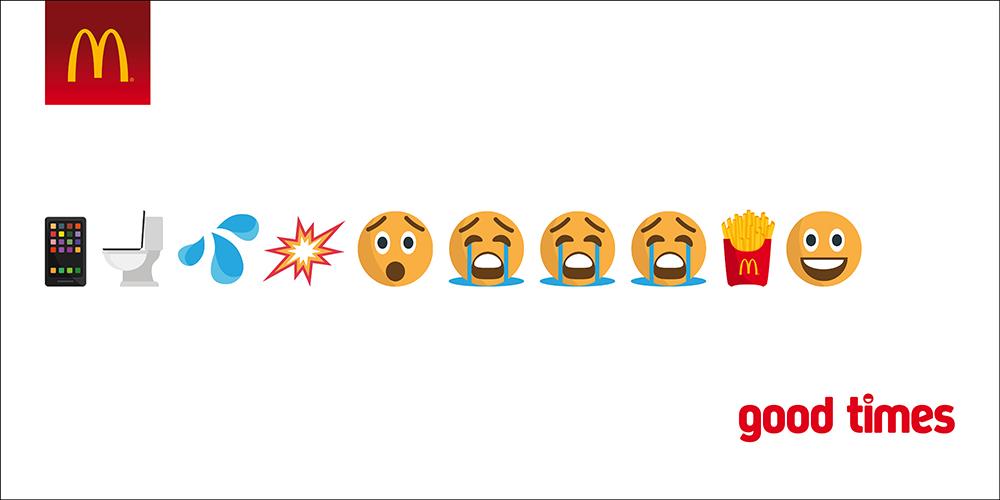 """Chiến dịch Emoji Marketing mang tên """"Good time"""" của McDonald's"""