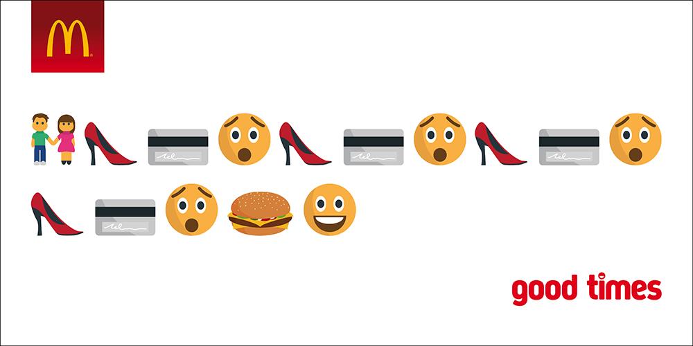 """Chiến dịch Emoji Marketing mang tên """"Good time"""" của McDonald's 2"""