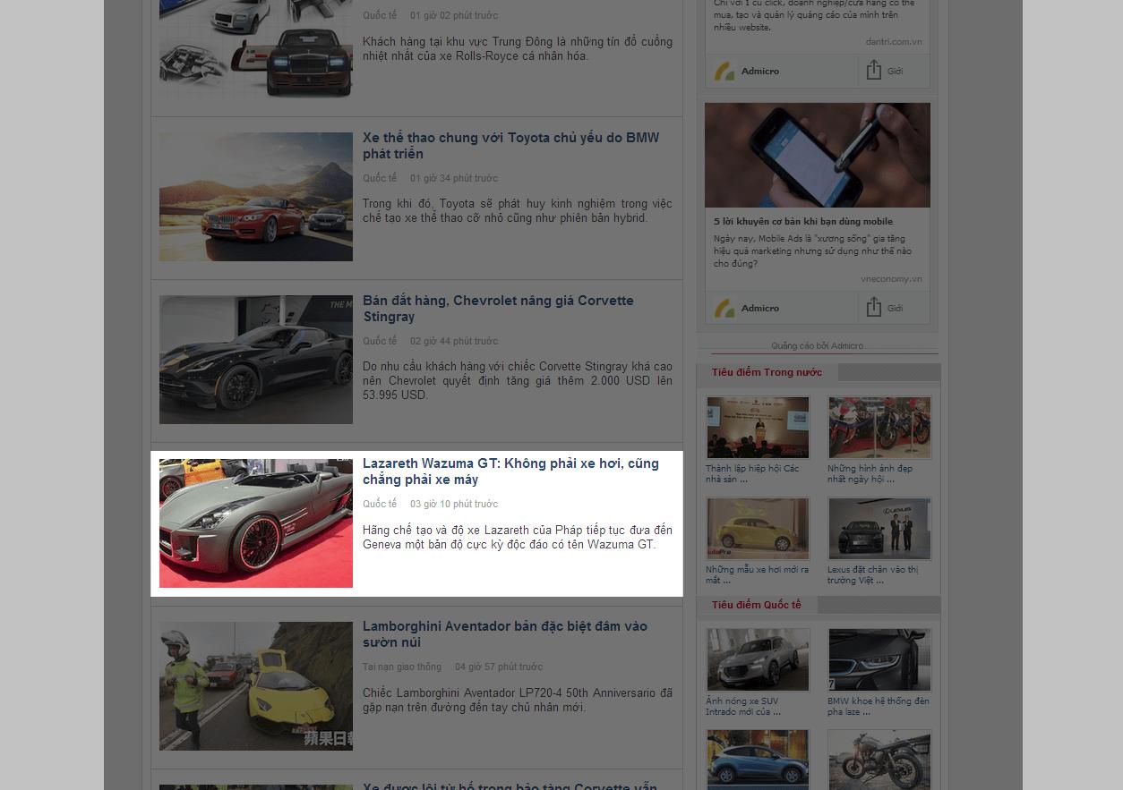 báo giá bài pr trên autopro bài viết loại 3
