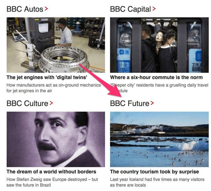 Hình thức Native Ads là gì? Native Ads xuất hiện dưới dạng một bài đăng bình thường trên BBC