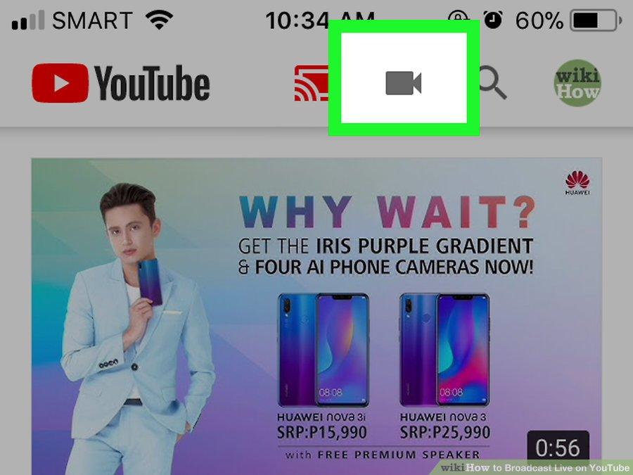 Cách live stream trên Youtube bằng điện thoại - Bước 2