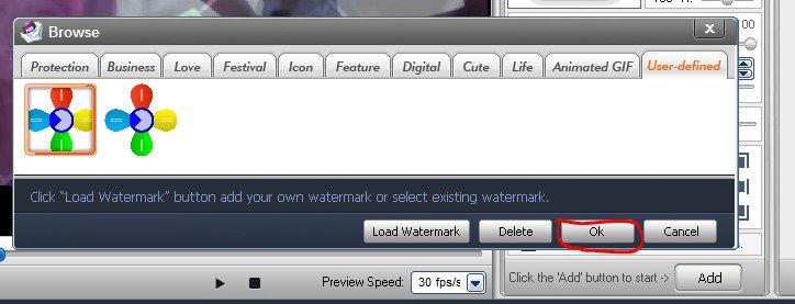 cách chèn logo vào videovới phần mềm Video Watermark 07