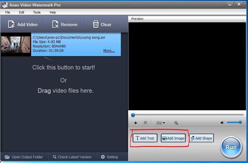 cách chèn logo vào videovới phần mềm Video Watermark 03