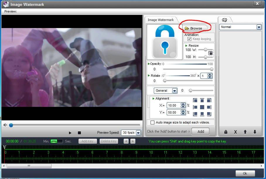 cách chèn logo vào videovới phần mềm Video Watermark 04