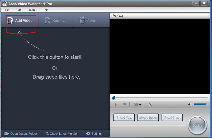 cách chèn logo vào videovới phần mềm Video Watermark 01