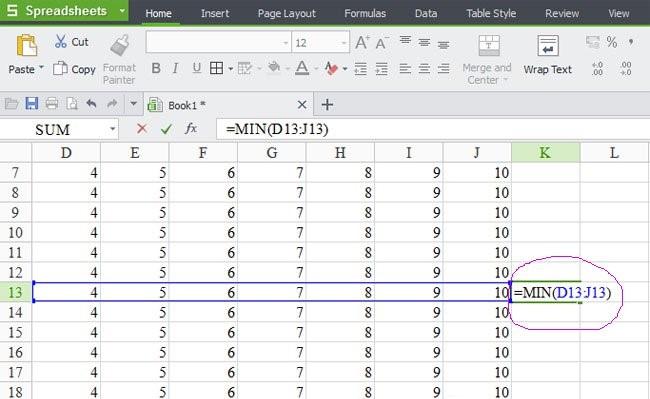 Những hàm bạn cần biết khi quản lý bán hàng bằng Excel - Hàm Min, Max