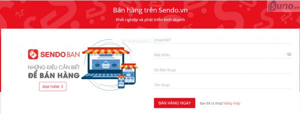 các bước thực hiện cách bán hàng trên Sendo - Nhập thông tin