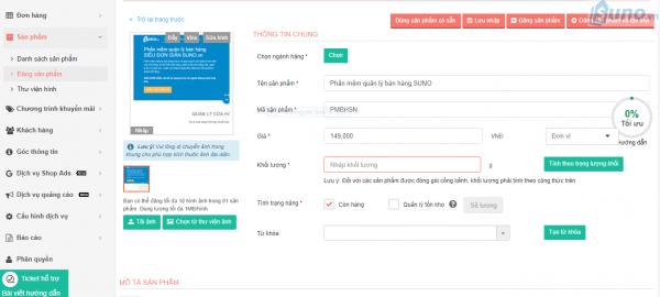 các bước thực hiện cách bán hàng trên Sendo - Cung cấp thông tin về sản phẩm 001