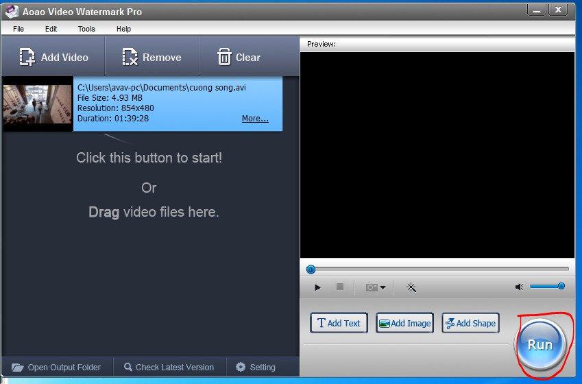cách chèn logo vào videovới phần mềm Video Watermark 10